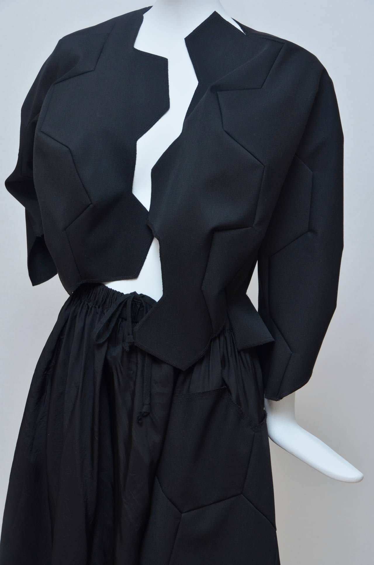 Women's Comme Des Garcons Football Soccer Set Runway Jacket  and Skirt Ad 2008 For Sale