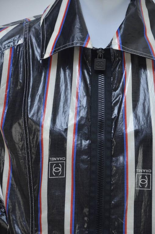 Black Chanel 2007 Collection Raincoat   For Sale