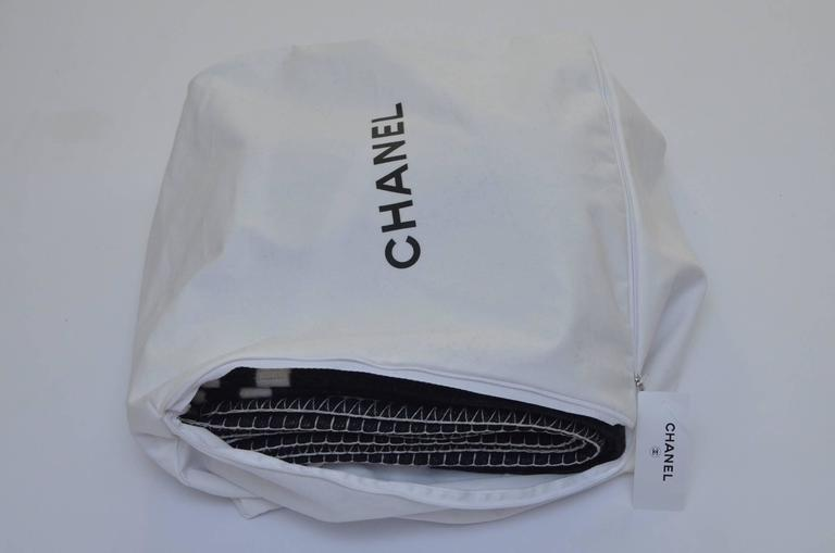 CHANEL Black And Off White Large CC Logo Travel Home Decor