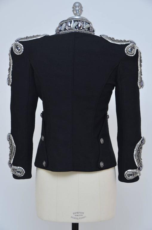 Fashion Art Piece BALMAIN Crystal's Embellished Jacket Christophe D. Runway '09 2