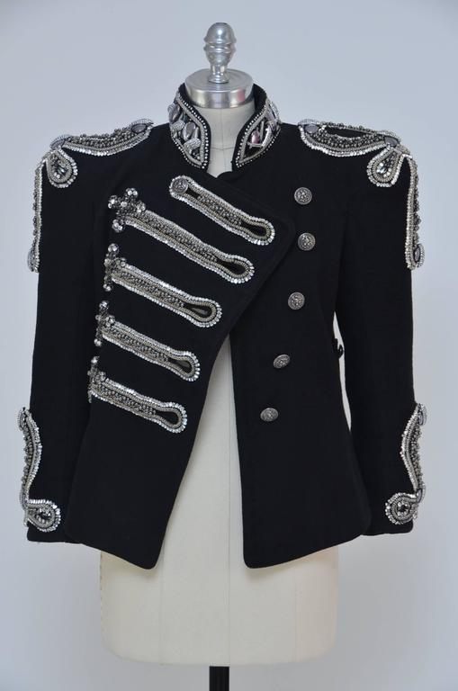 Fashion Art Piece BALMAIN Crystal's Embellished Jacket Christophe D. Runway '09 3