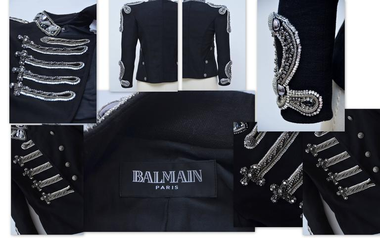 Fashion Art Piece BALMAIN Crystal's Embellished Jacket Christophe D. Runway '09 8