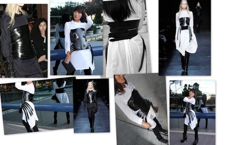 Black Ann Demeulemeester  Leather Corset 14  Buckle Belt Mint Size S For Sale