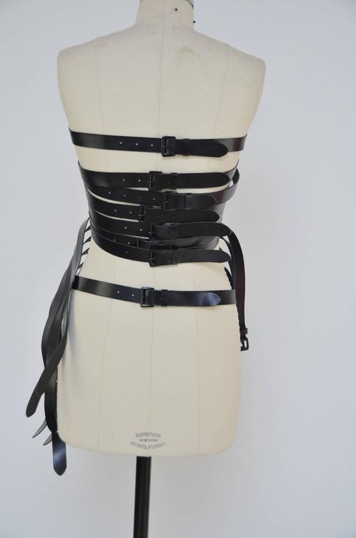 Women's Ann Demeulemeester  Leather Corset 14  Buckle Belt Mint Size S For Sale