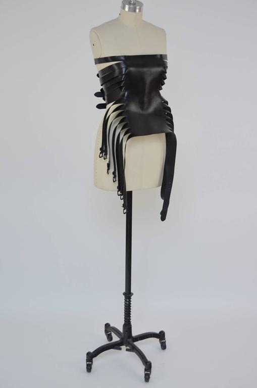 Ann Demeulemeester  Leather Corset 14  Buckle Belt Mint Size S For Sale 1