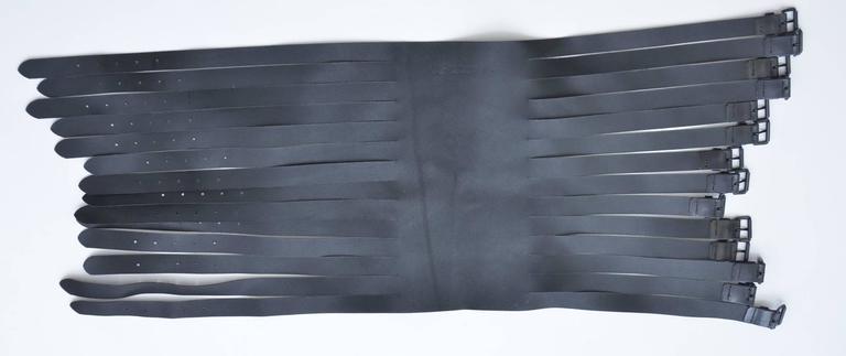 Ann Demeulemeester  Leather Corset 14  Buckle Belt Mint Size S For Sale 2