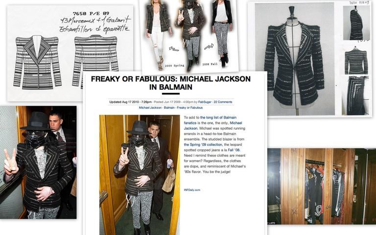 BALMAIN Jacket '09 Runway  Seen And Owned  By  Pop Icon  Michael Jackson  10