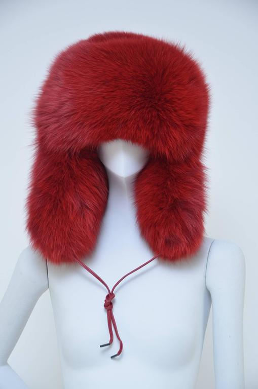 MARC JACOBS Fox Fur Hat Lil Wayne Wore In His Music Video In New Never_worn Condition For Sale In Hollywood, FL