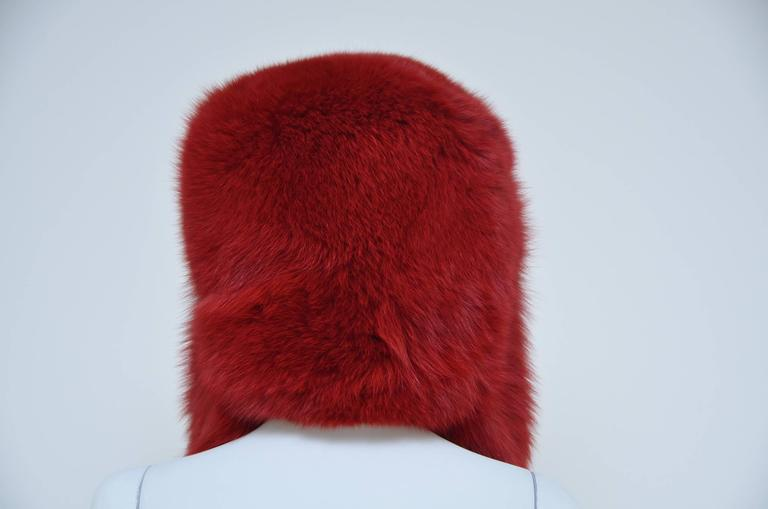 Women's MARC JACOBS Fox Fur Hat Lil Wayne Wore In His Music Video For Sale