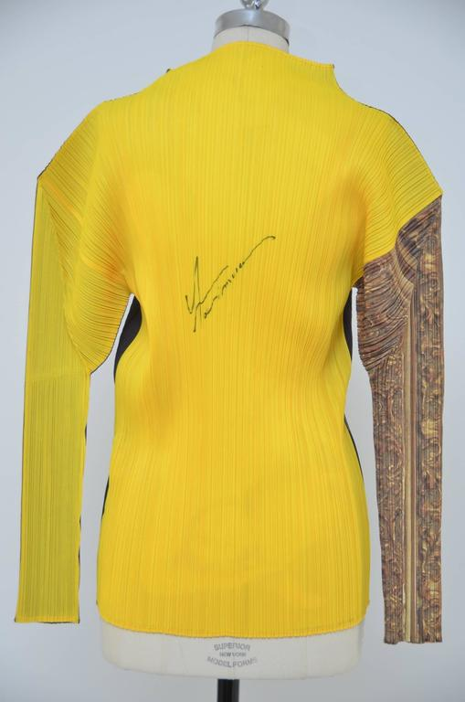 Black Autographed ISSEY MIYAKE Guest Artist Series No.1 Yasumasa Morimura  Top 1996 For Sale