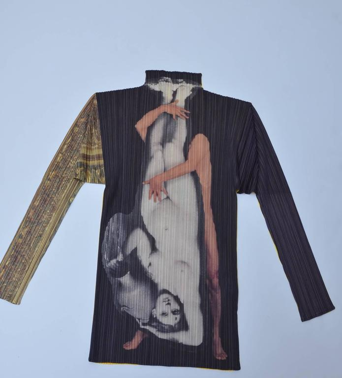 Autographed ISSEY MIYAKE Guest Artist Series No.1 Yasumasa Morimura  Top 1996 In New never worn Condition For Sale In Hollywood, FL