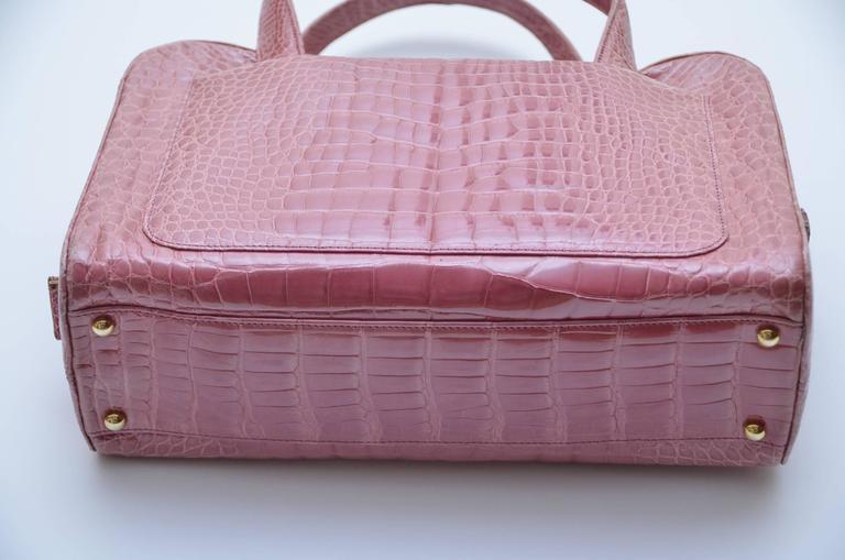 Chanel Powder Pink Crocodile Handbag For Sale At 1stdibs