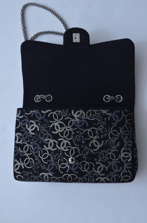 "CHANEL ""Strass""  Paris-Shanghai  Jumbo Tweed Single Flap Handbag  Mint/New 3"