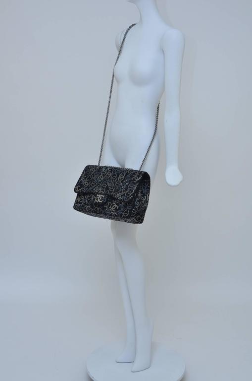 "CHANEL ""Strass""  Paris-Shanghai  Jumbo Tweed Single Flap Handbag  Mint/New 6"
