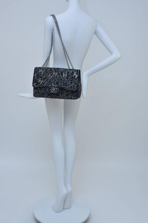 "CHANEL ""Strass""  Paris-Shanghai  Jumbo Tweed Single Flap Handbag  Mint/New 7"