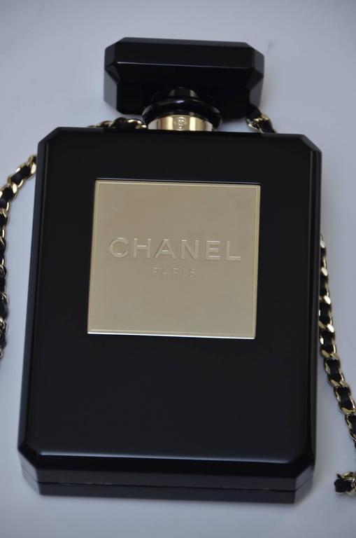 Chanel Limited Edition Black Handbag Clutch Runway Perfume