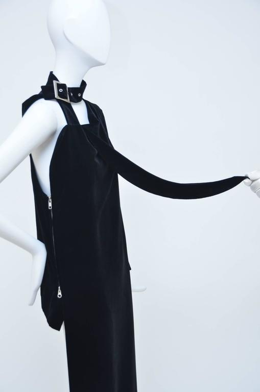 Black Yohji Yamamoto Velvet  Dress/ Top  Runway 2004 New  For Sale