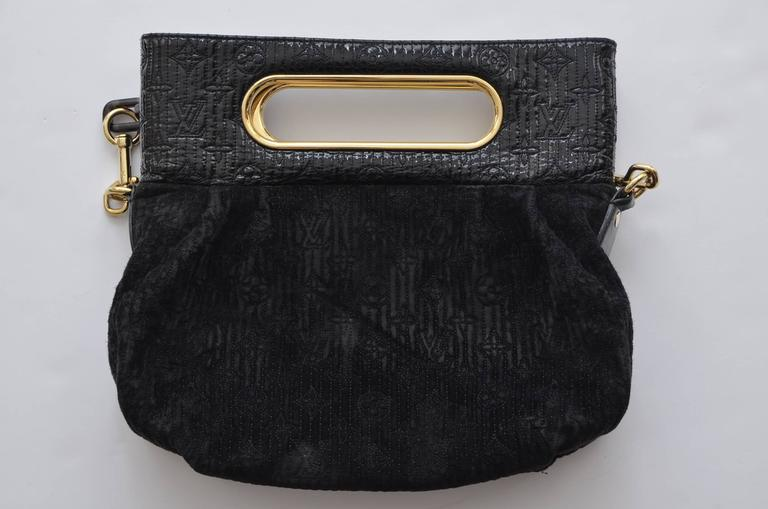 Louis Vuitton Black Leather Lv Envelope Carryall Clutch Bag w5FK5FLnS