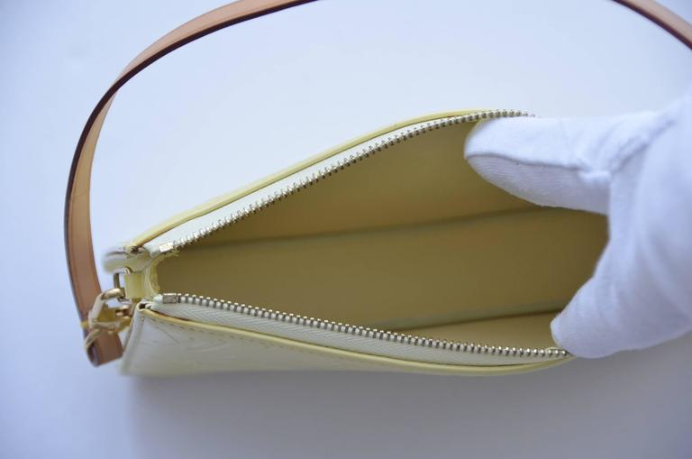 Gray Louis Vuitton Mini Handbag Patent Yellow For Sale