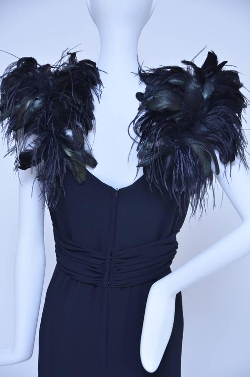 Lilli Diamond Quot Old Hollywood Glamour Quot Feather S Black