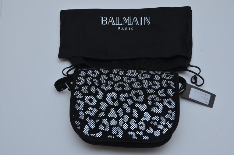 Balmain Swarovski Crystals Handbag New In New Condition For Sale In Hollywood, FL
