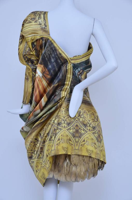 "Brown Alexander McQueen Final Collection 2010 ""Angels and Demons"" Dress 40 For Sale"