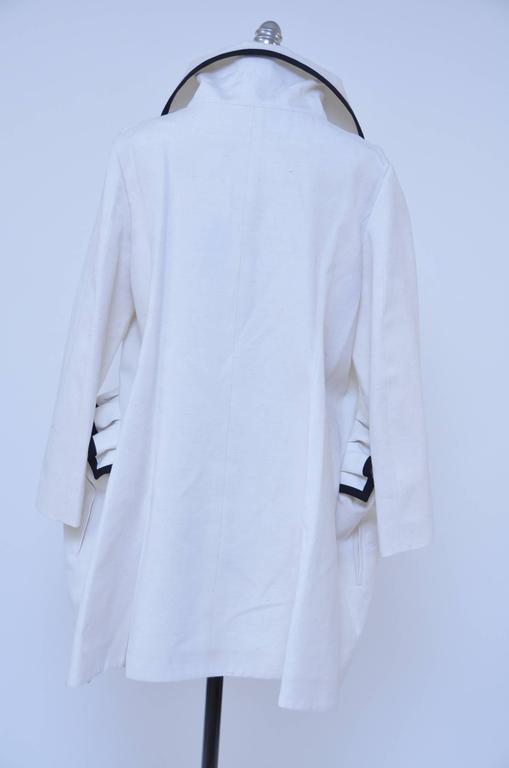 Blue Stefano Pilati For YSL Yves Saint Laurent Resort 2010 Coat  NEW For Sale