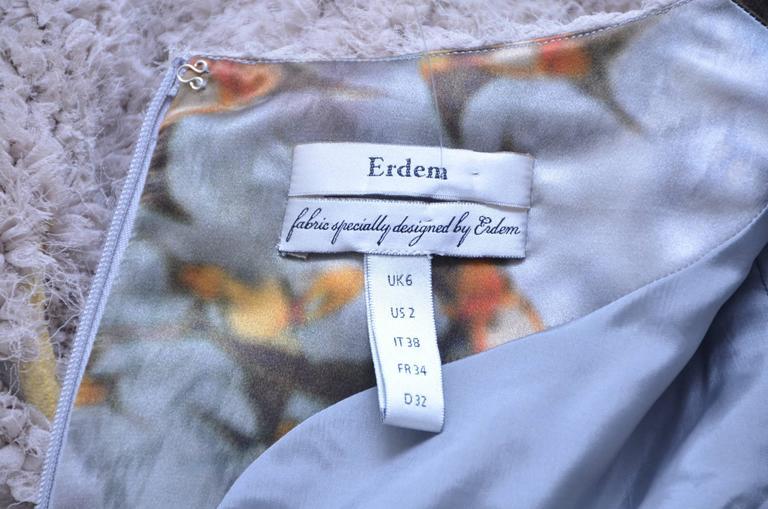 Erdem Chiffon Swallow Dress Runway Spring 2010  NEW  US2 7