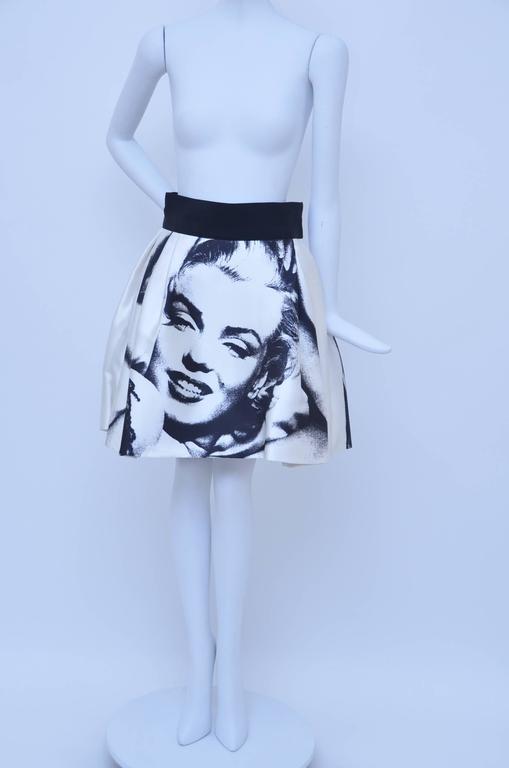 Marilyn Monroe Print  Dolce & Gabbana  Skirt  New 38 2