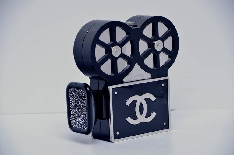CHANEL Rome 2016 Movie Camera Minaudière Handbag Seen On Mira Duma NEW 4