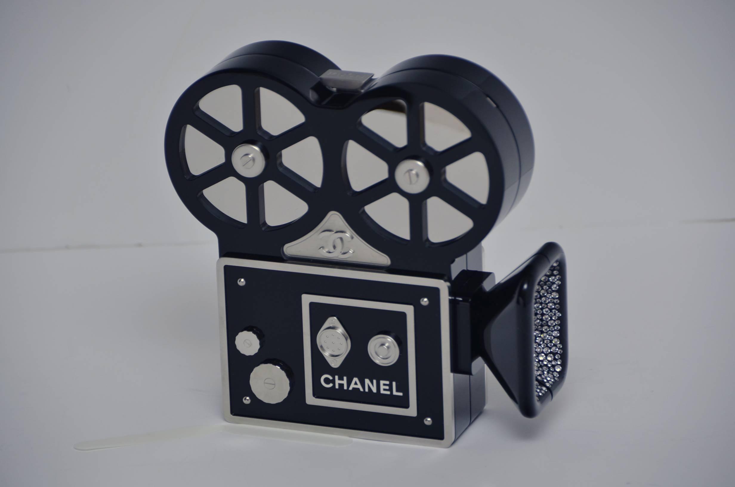 b76e0435cfa0 CHANEL Rome 2016 Movie Camera Minaudière Handbag Limited Edition NEW For  Sale at 1stdibs
