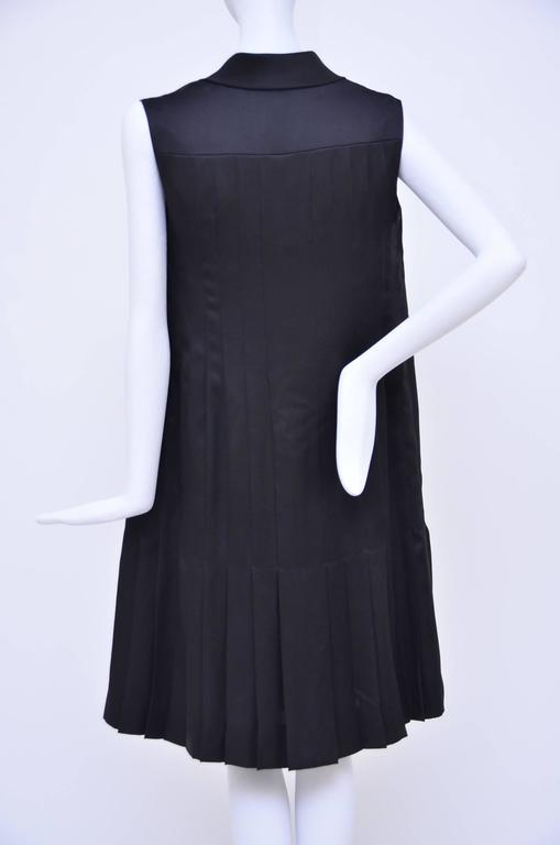 CHANEL Haute Couture Black Silk Pleated  Dress   Mint 2