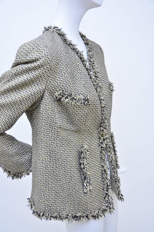Gray CHANEL Runway 2007  Tweed Jacket   Mint For Sale
