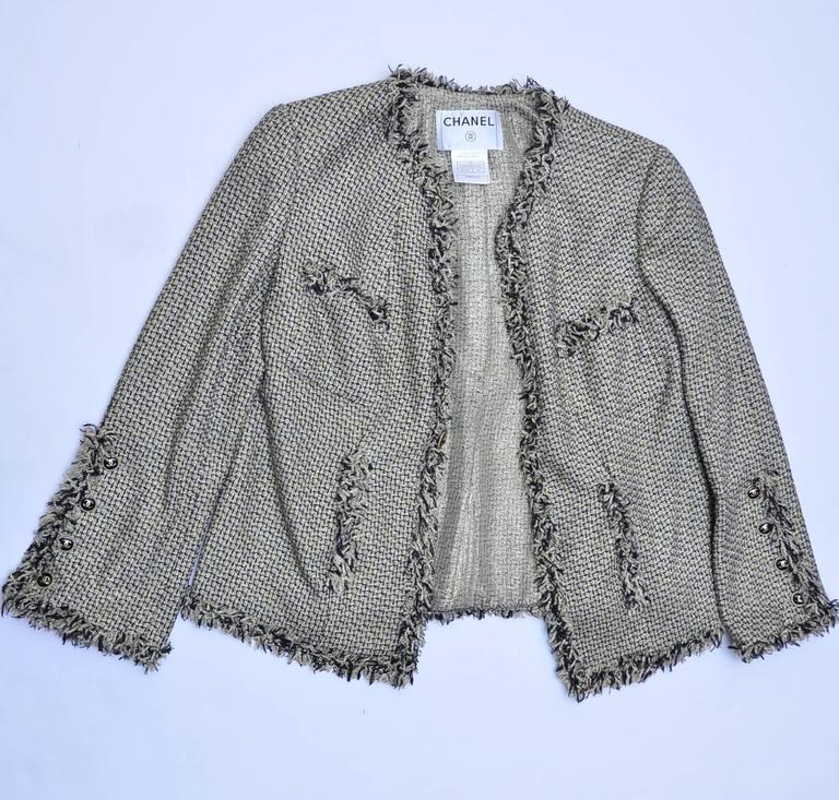 CHANEL Runway 2007  Tweed Jacket   Mint 5