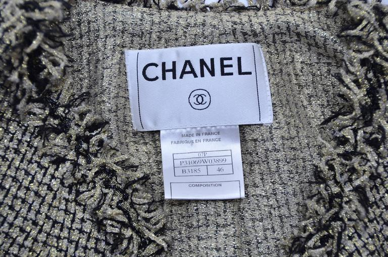 CHANEL Runway 2007  Tweed Jacket   Mint For Sale 1