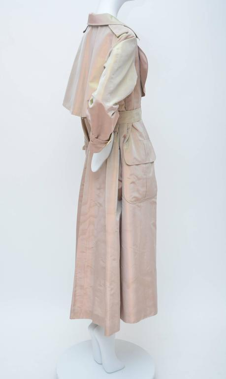 Brown Givenchy Haute Couture Iridescence  Fabric Trench Coat