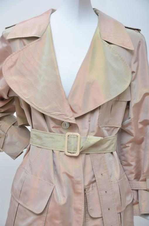 Givenchy Haute Couture Iridescence  Fabric Trench Coat   In Excellent Condition In New York, NY