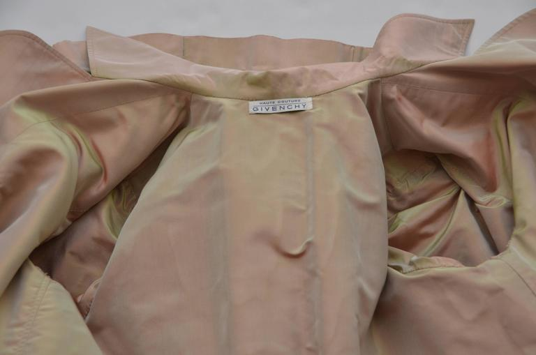 Givenchy Haute Couture Iridescence  Fabric Trench Coat   1