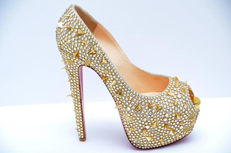uk availability cb024 8607d From The KHLOE KARDASHIAN Closet Christian Louboutin Highness Strass Shoes