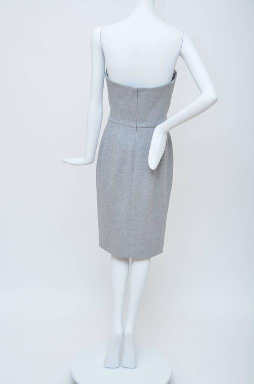Gray Yves Saint Laurent Spring '08  Strapless  Dress Seen On Rihanna..Kate Moss... For Sale