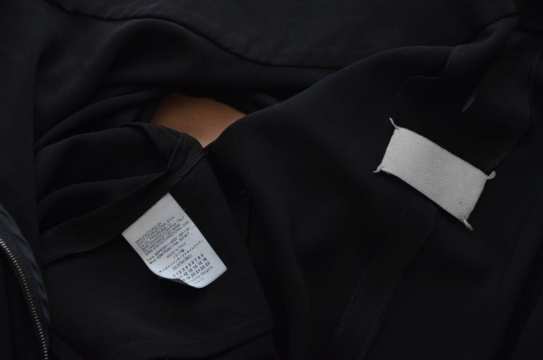 Maison Martin Margiela  2011 Black Dress with Tan Leather Sleeves   For Sale 1