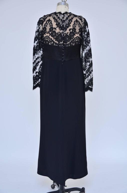 Badgley Mischka Black Lace Dress  Mint  2