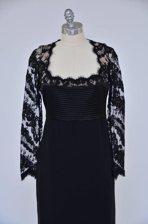 Badgley Mischka Black Lace Dress  Mint  3