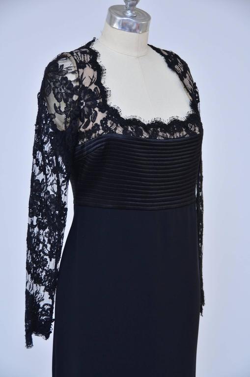 Badgley Mischka Black Lace Dress  Mint  4