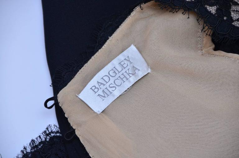 Badgley Mischka Black Lace Dress  Mint  6