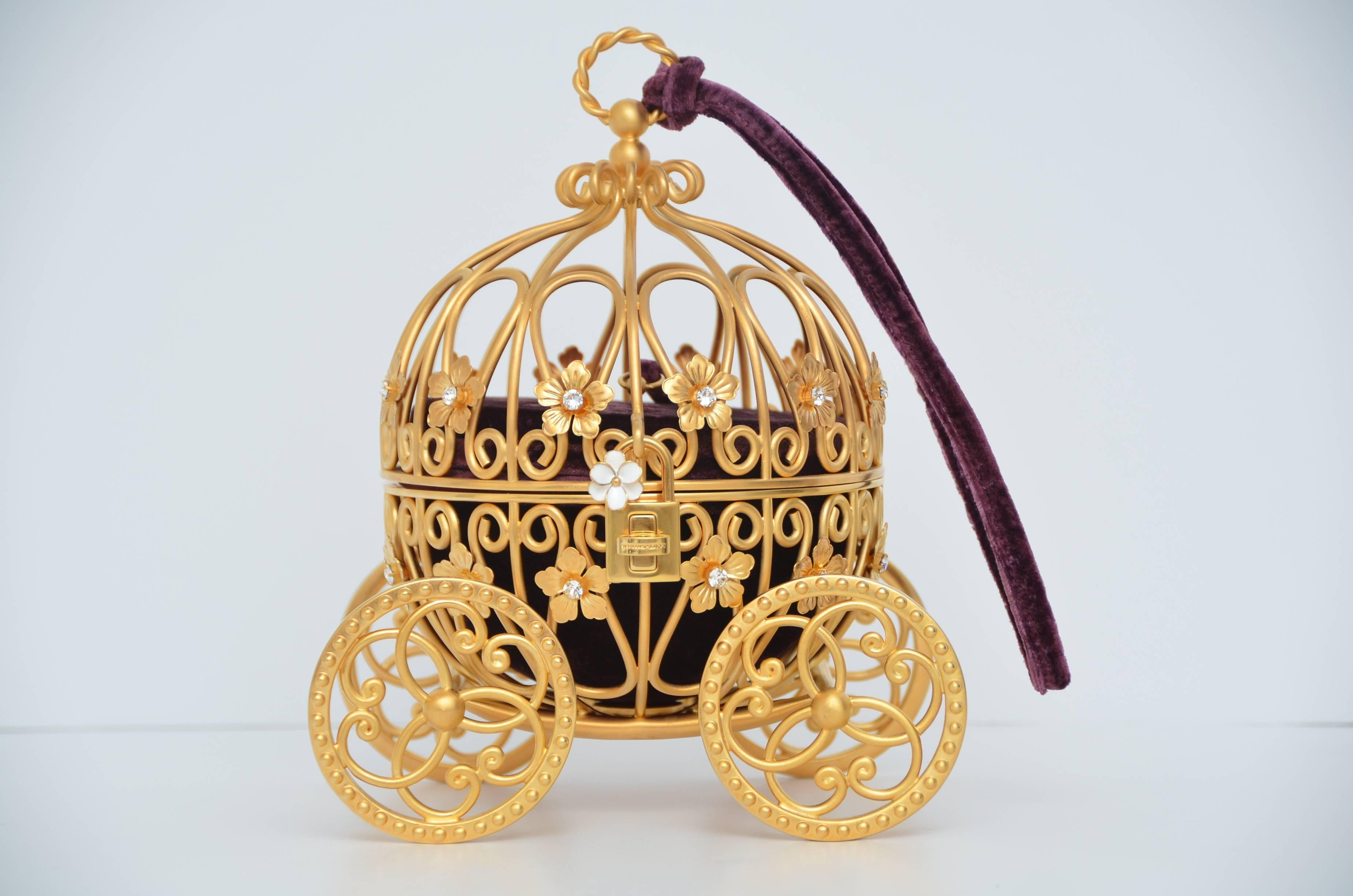2fcf4a99f9 Dolce and Gabbana Cinderella Carriage Ltd Ed Handbag Minaudière Retailed   15
