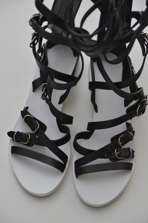 Balenciaga black leather gladiator sandals. Brand new with dust bag. Size 40. Made in Italy.  FINAL SALE.