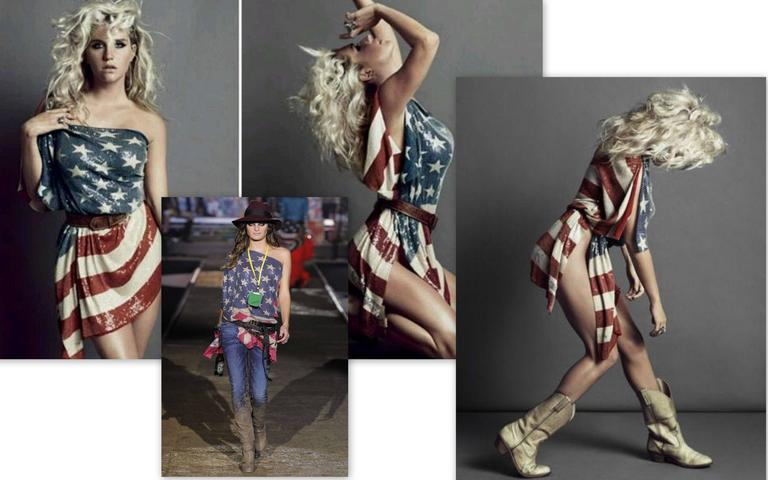 DSQUARED2 Sequined Short Shirt Dress American Flag Seen On Keisha New S 5