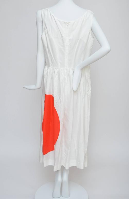 """Comme Des Garcons dress from """"Rising Sun """" collection. White cotton mix with tulle fabric.Lined in tulle. Excellent condition,fabric feels new with couple marks from storage that can easily be cleaned. Size L. Made in japan.  FINAL"""