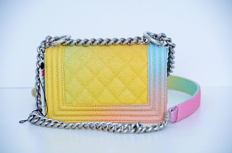 Super Rare Chanel MICRO Rainbow Cuba  Boy Handbag '17 Crossbody NEW 3